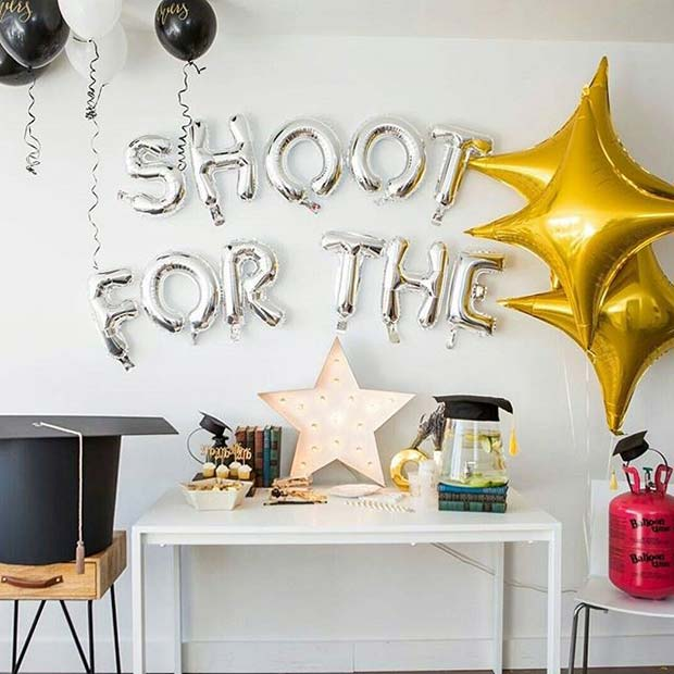Shoot for the Stars Party Table for Graduation Party