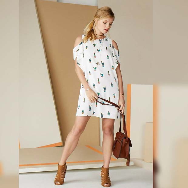Cactus Print Dress for Summer 2018