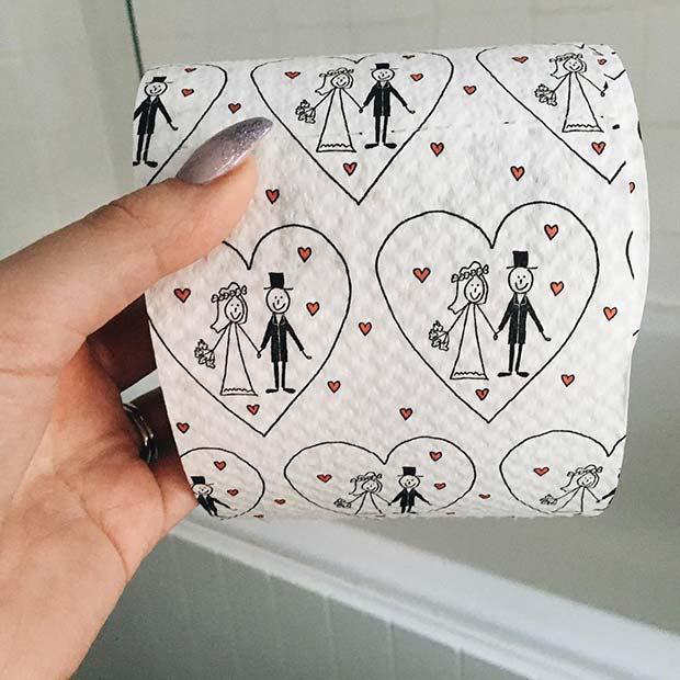 Wedding Toilet Paper for Bridal Shower Dress Game