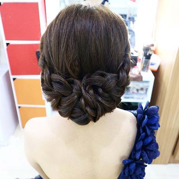 Beautiful Braided Updo From Prom