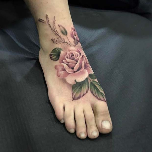 Rose Tattoos For Woman: 10 Beautiful Rose Tattoo Ideas For Women