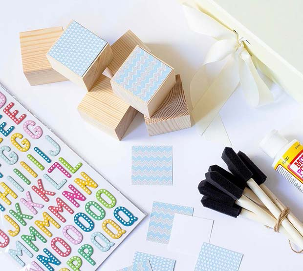 Personalized Blocks for Baby Shower Game Ideas