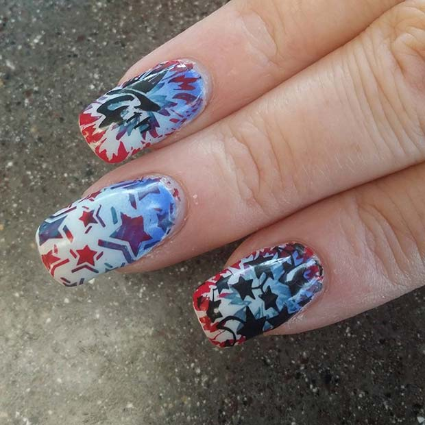 21 Funky and Fun 4th Of July Nail Designs | Page 2 of 2 | StayGlam