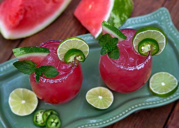 Jalapeño Watermelon Margarita Fruity Summer Cocktail Idea for Women