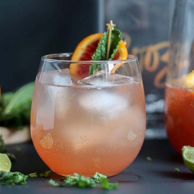 Citrus Rosè Sangria Fruity Summer Cocktail Idea for Women