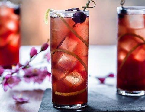 Iced Tea and Cherry Bomb Whiskey Fruity Summer Cocktail Idea for Women
