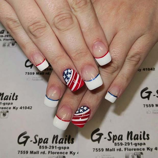 21 Funky and Fun 4th Of July Nail Designs | StayGlam