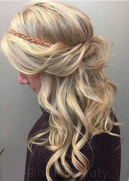 23 Gorgeous Half Up Wedding Hair Ideas Stayglam