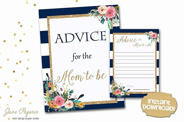 Advice for Mom Baby Shower Game Idea