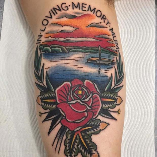 In Loving Memory Memorial Tattoo for Mom