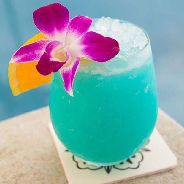 Blue Hawaiian Fruity Summer Cocktail for Women