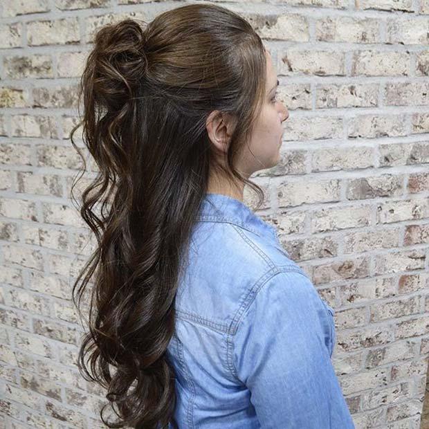 23 Evergreen Romantic Bridal Hairstyles: 23 Gorgeous Half Up Wedding Hair Ideas