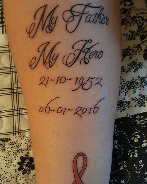 Tattoo For Dad Who Passed Away