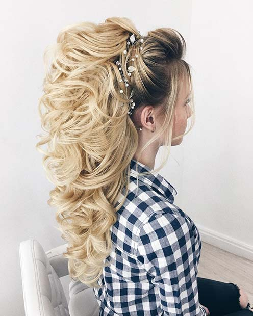 Simple Wedding Hair Ideas: 23 Gorgeous Half-Up Wedding Hair Ideas
