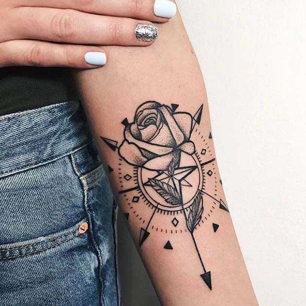 057dce02d 21 Beautiful Rose Tattoo Ideas for Women | Page 2 of 2 | StayGlam