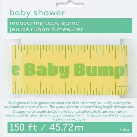 Measuring Tape Game Idea for Baby Shower
