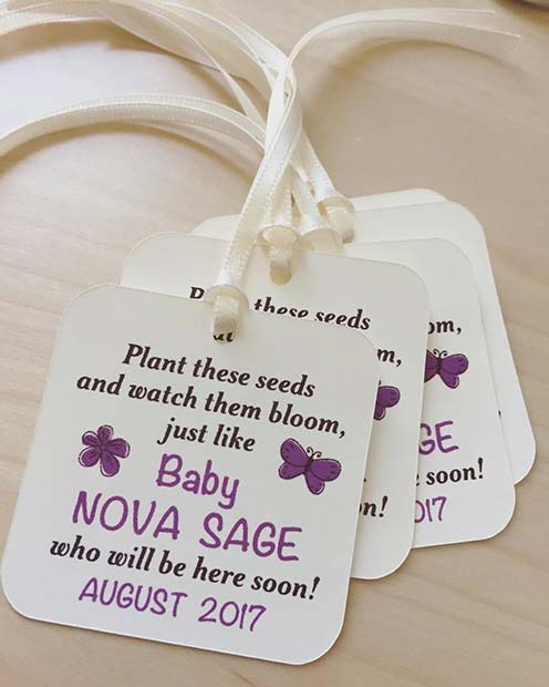 Plant Seed Prize Idea for Baby Shower