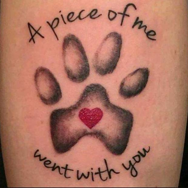 Dog Memorial Tattoo Idea