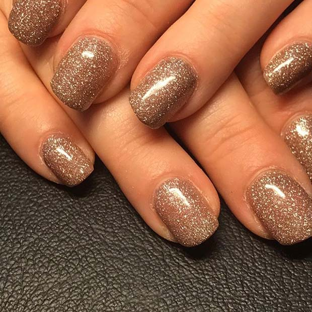 All Over Glitter Nail Manicure for Glitter Nail Design Ideas