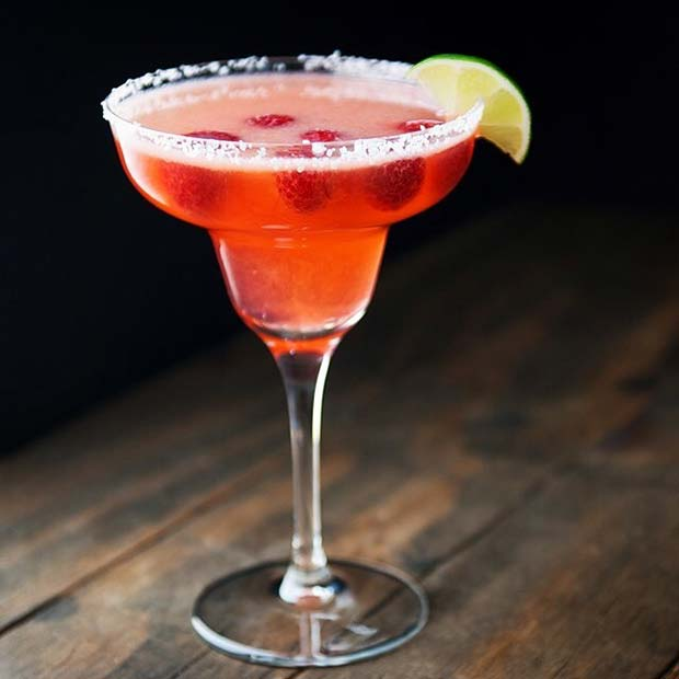 Raspberry Pink Cadillac Margarita Fruity Summer Cocktail for Women