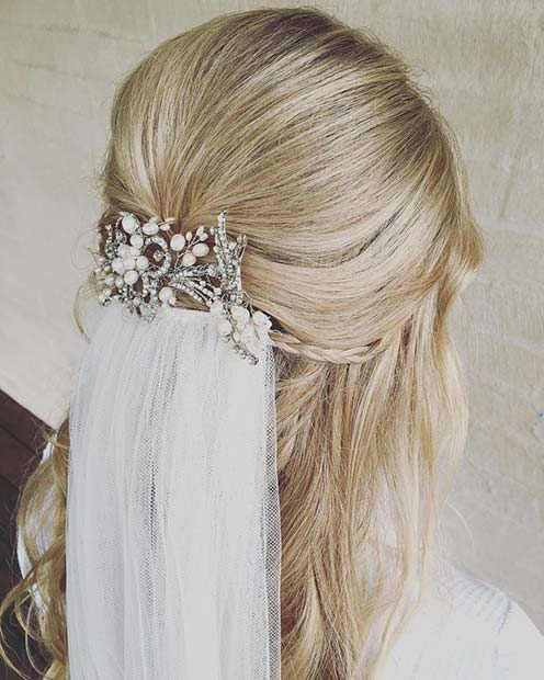 Hairstyle Ideas For Wedding: 23 Gorgeous Half-Up Wedding Hair Ideas