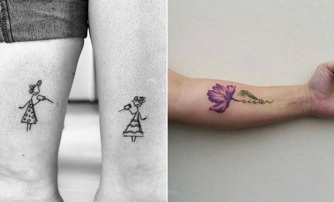 23 Cute and Creative Sister Tattoos