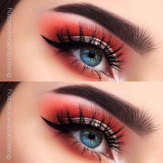 Vibrant Eyes for Summer Makeup Ideas