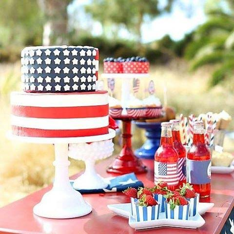 4th of July Buffet Table Idea for 4th of July Party Ideas
