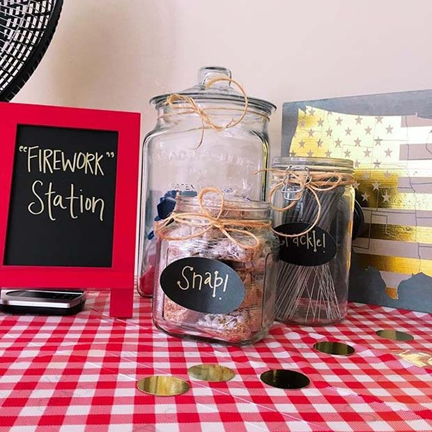 Alternative Firework Station for 4th of July Party Ideas