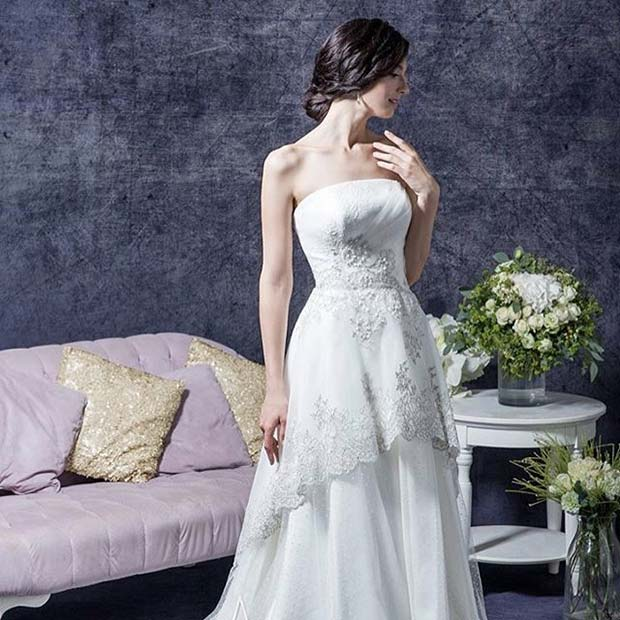 Pretty Sleeveless Dress for Summer Wedding Dresses for Brides