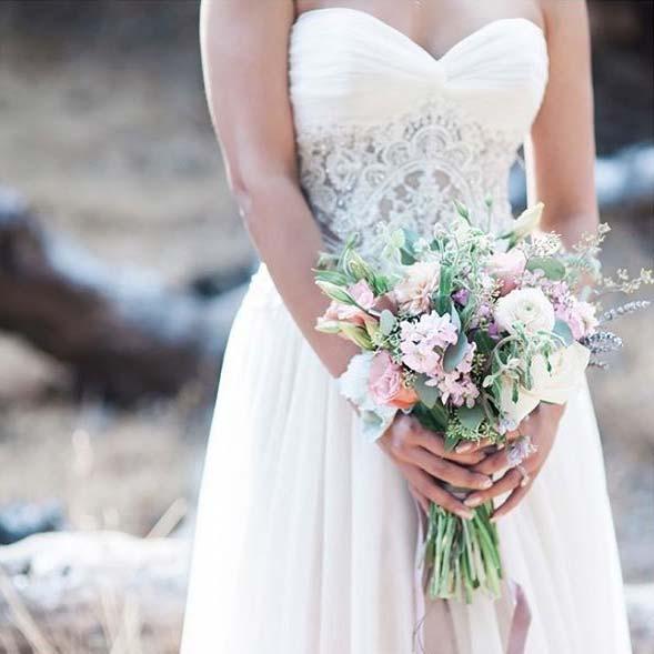 Sweetheart Neckline for Summer Wedding Dresses for Brides