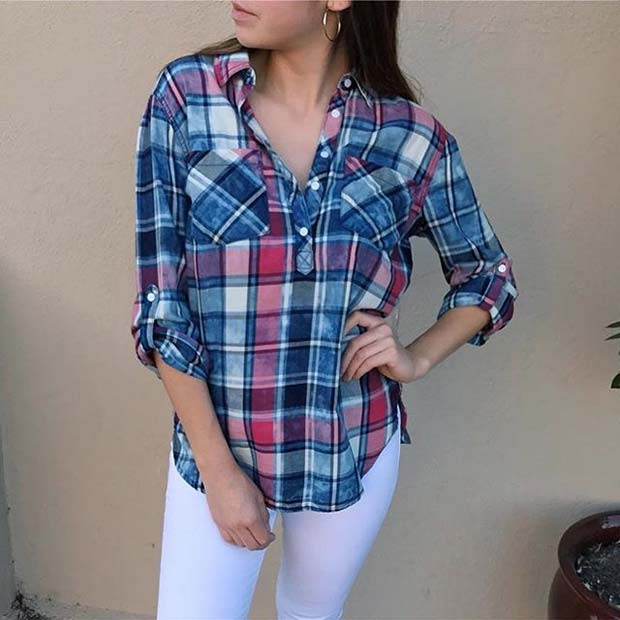 Flannel Shirt for Casual Summer Outfits
