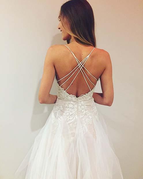 Criss-Cross Back Detail on Summer Wedding Dresses for Brides
