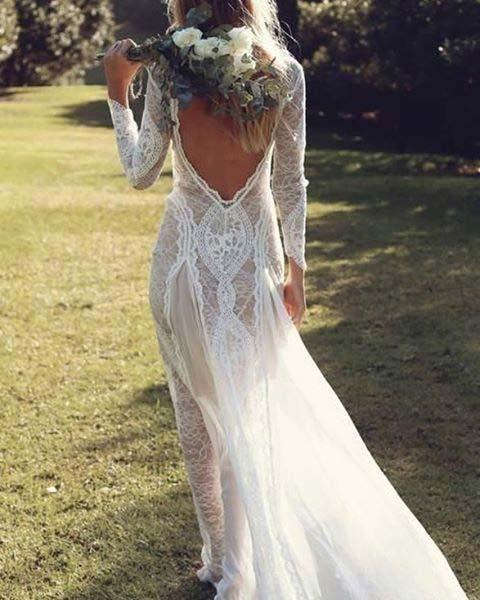 Boho Beach Bride Dress for Summer Wedding Dresses for Brides