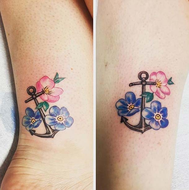 Matching Anchor Tattoo for Sister Tattoos