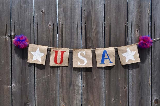 USA Banner for 4th of July Party Decor Ideas