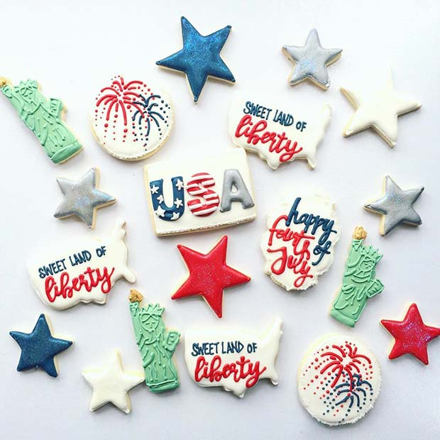 USA Cookie Designs for 4th of July Party Ideas
