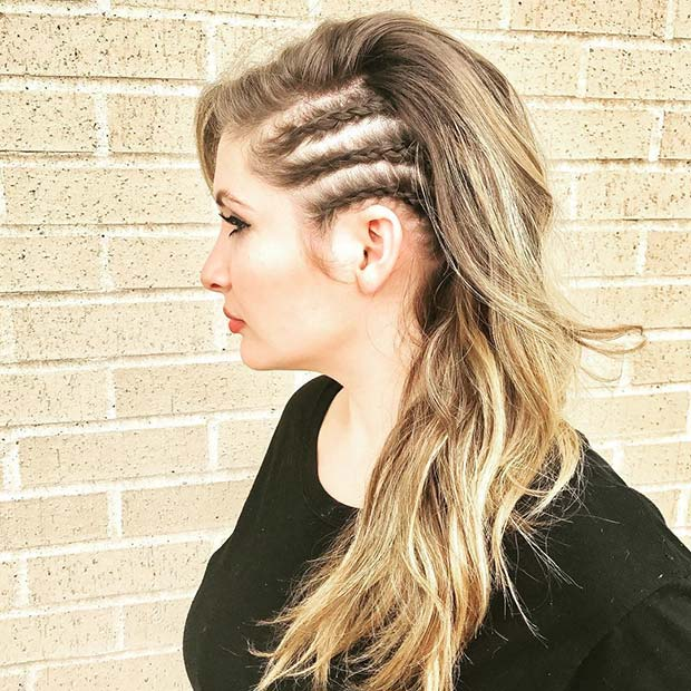 Trendy Side Braids Hairstyle