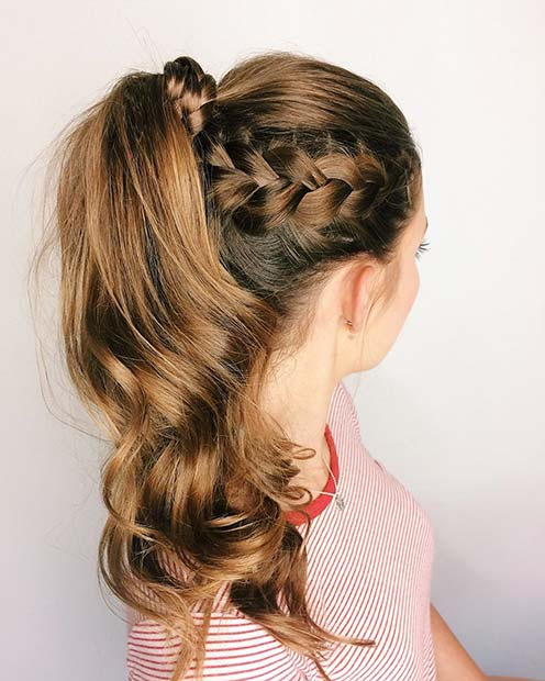 Braided Ponytail for Bridesmaid Hair Ideas