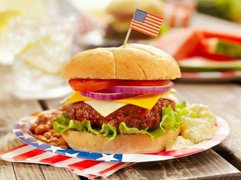 4th of July BBQ Burger for 4th of July Party Ideas