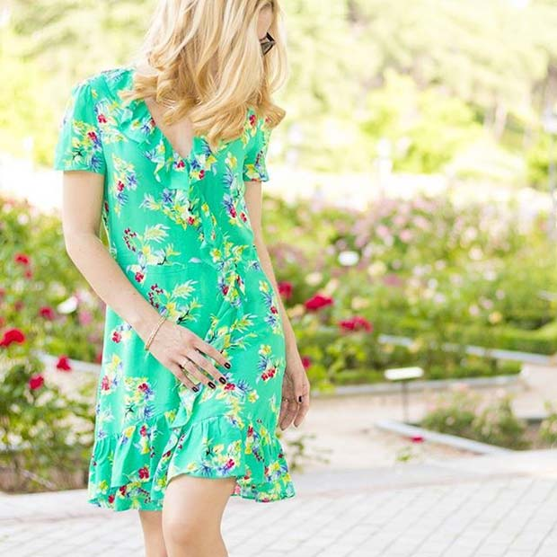 Bright Print Dress for Casual Summer Outfits