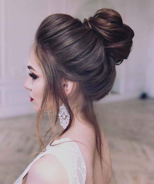 Loose High Bun for Bridesmaid Hair Ideas