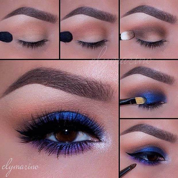 Beautiful Blue Eyes for Summer Makeup Ideas