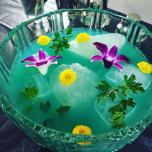 Tropical Floral Punch Summer Cocktails for a Crowd