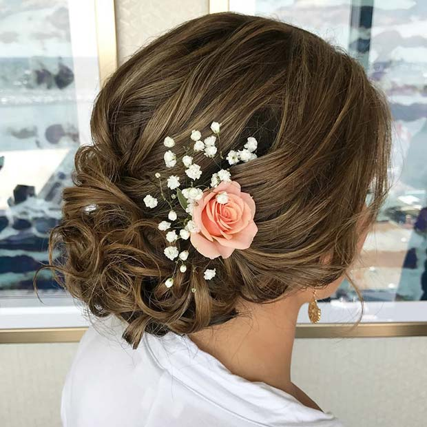 Floral Hair Accessory for Bridesmaid Hair Ideas