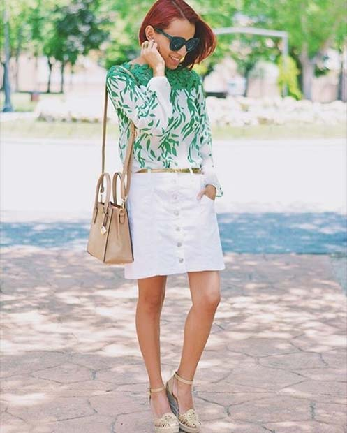 Button Front Skirt for Casual Summer Outfits