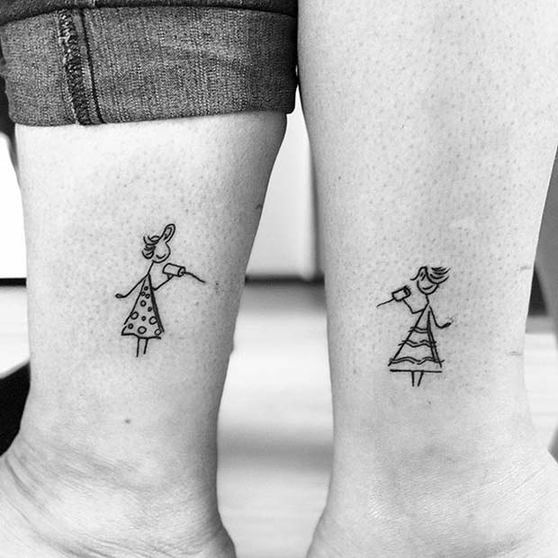 Creative Sister Tattoo for Sister Tattoos