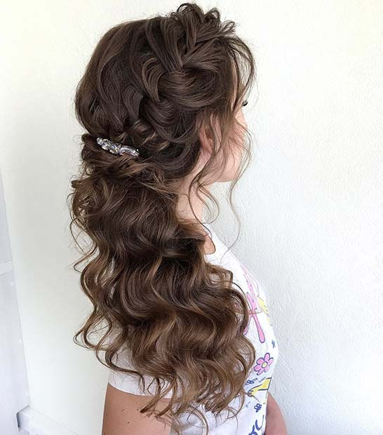 Elegant Side Braid for Bridesmaid Hair Ideas