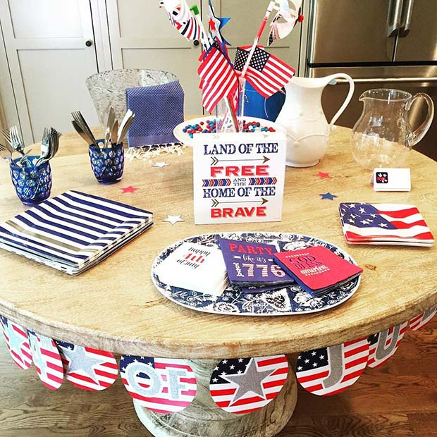 4th of July Party Table for 4th of July Party Ideas