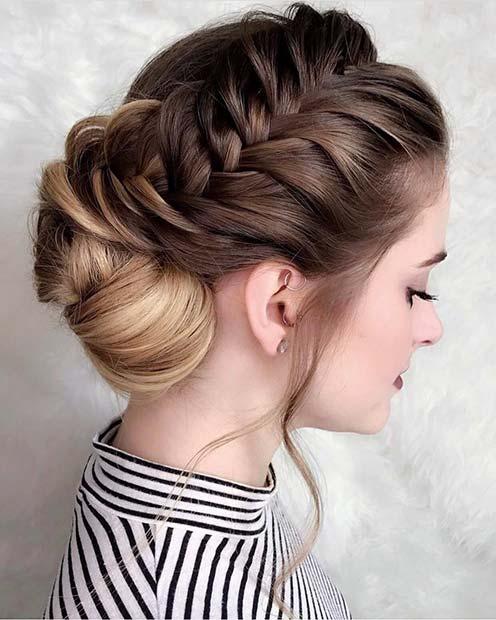 Stylish Side Braid for Bridesmaid Hair Ideas